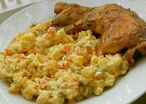 Kuře s bylinkami, pečené na másle
