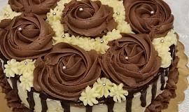 Piškotový dort s ganache
