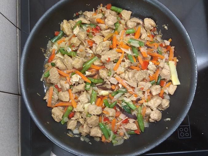 Ve směsi s čínskou zeleninou