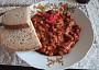 Maso 1cm x 1cm. Přidána červená paprika, trošku zázvoru a rozhodně bez masoxu.