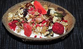 Granola s bílou čokoládou