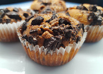 Křupavé čokoládové muffiny
