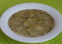 Polévka z růžičkové kapusty s ovesnými vločkami
