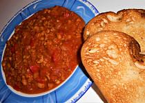 Chilli con carne di soia  (Dělená strava podle LK - Kytičky + zelenina)