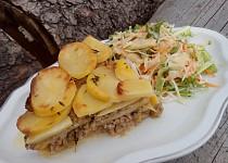 Mleté maso s pórkem ve smetanových bramborách