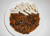"""Rýžové bezlepkové noky a """"čína"""" z Jidášova ucha  (Dělená strava podle LK - Kytičky + zelenina)"""