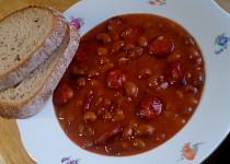 Rajské fazole s uzeninou