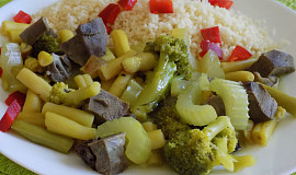 Vepřové srdíčko na zelenině