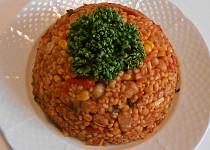 Bulgurový bezmasý pilaf  (Dělená strava podle LK - Kytičky + zelenina)