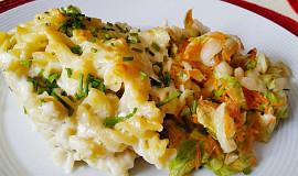 Těstoviny zapečené v sýrovém bešamelu