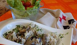 Žampiony s  rýží
