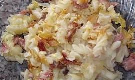 Zapečené těstoviny s uzeným masem