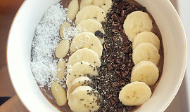 Coffee smoothie bowl