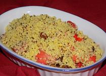 Kuskusový salát s jahodami