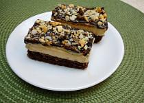 Kakaové řezy s arašídovým krémem