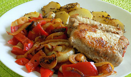 Rybí filety na cibuli a kapii