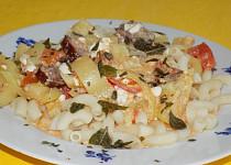 Těstoviny s cottage