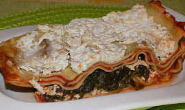 Špenátovo-rajčatové lasagne