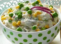 Rybí salát se zelím