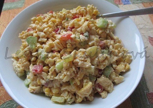 Barevný těstovinový salát II