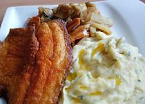 Cejn s pikantní zeleninou a bramborovou kaší