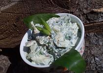 Okurkový salát s medvědím česnekm