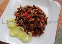 Králičí rizoto s černou rýží
