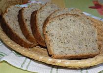 Pšenično - žitný chléb se sušenými houbami