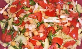 Jednoduchý cizrnový salát  (Dělená strava podle LK - Kytičky + zelenina)