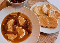 Polévka hokaido se sýrovými placičkami  (Dělená strava podle LK - Zvířata)