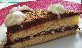 Nadýchaný piškotový dort s kakaovým krémem