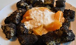 Bramborové noky nasladko  (Dělená strava podle LK - Kytičky + ovoce)