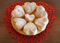 Valentýnské koblížky pečené v troubě
