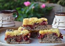 Makový koláč s ovocem bez lepku