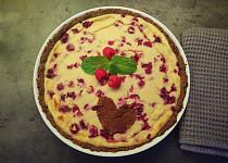 Pečený cheesecake s malinami