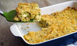 Zapečené těstoviny s brokolicí a sýrem