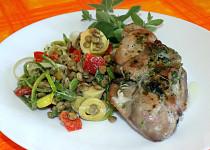 Kuřecí steak s čočkovým salátem
