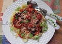Bezlepkové špagety v cherry omáčce