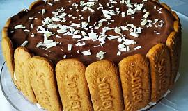 Nepečený pudinkovo-tvarohový dort