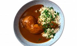 Pečené kuře na paprice, tarhoňa