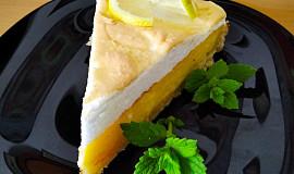 Francouzský citronový koláč se sněhem