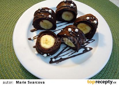 Kakaové palačinky s banány