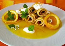 Pomerančové palačinky s pomerančovou omáčkou