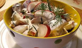 Ředkvičkový salát s koprem