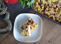 Drobenkový koláč s ricottou/tvarohem