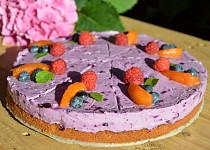 Borůvkový cheesecake bez lepku