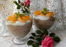 Čokoládovo-tvarohové poháry