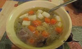 Zeleninová polévka  s rýžovými nudlemi