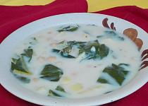 Cizrnová polévka s mangoldem
