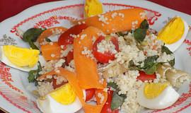 Kuskusový salát s restovanou šalvějí